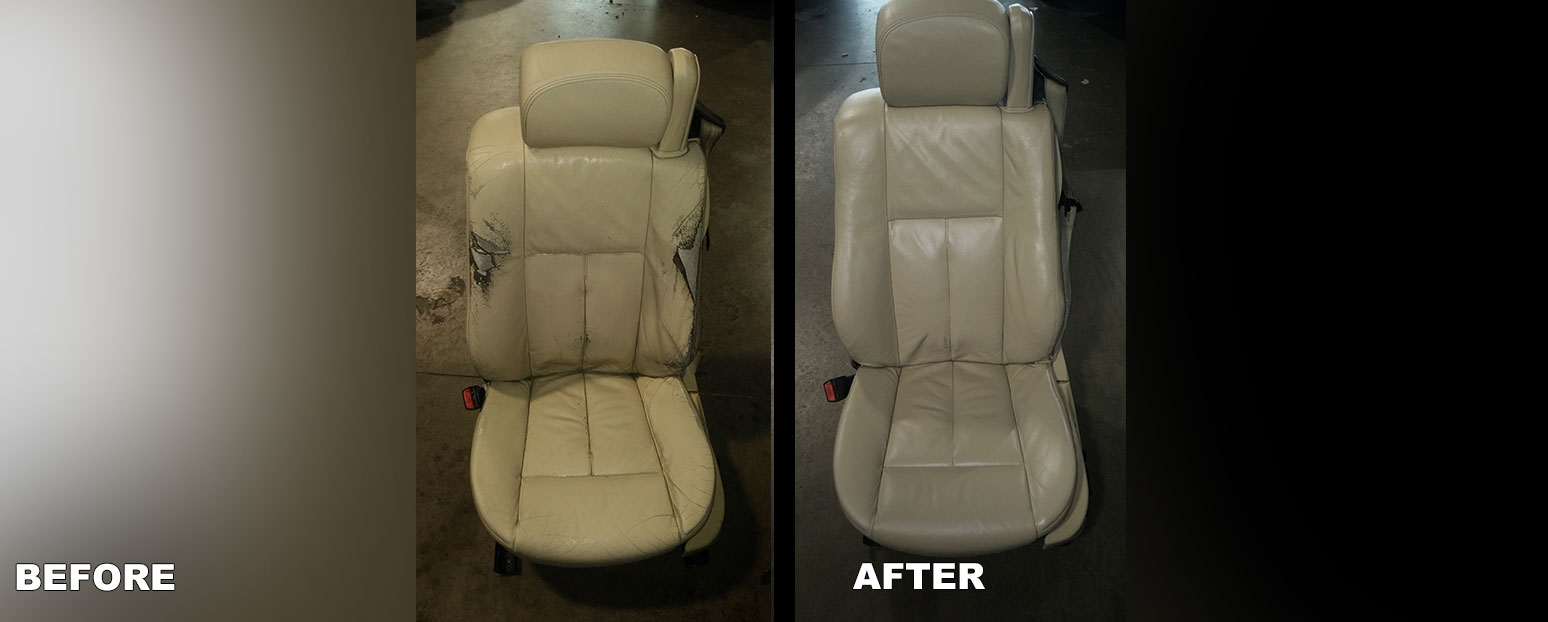 and discolored two restoration to repair vinyl auto a picture one services the leather faded restored of other car seats interior